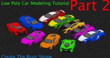 Beginner Blender Low Poly Car Modeling Tutorial – Part 2 – Basic Shape