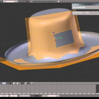 "Blender Modeling Tutorial – Homburg Hat or ""The GodFather Hat"""