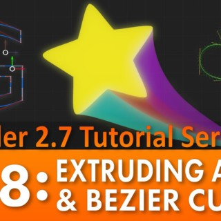 Blender 2.7 Tutorial #58: Extruding a Path & Bezier Curves
