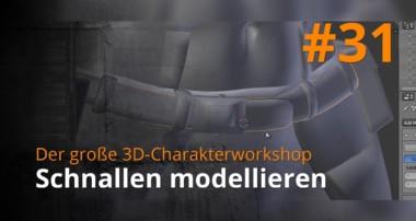 Blender 3D-Charakterworkshop Teil 1 | #31 – Schnallen modellieren