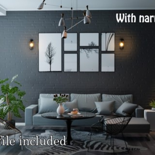 Blender 2.80 Tutorial : Eevee Interior #2 Black Living Room