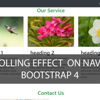 scrolling effect on Navbar -bootstrap 4  tutorial