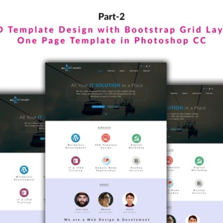 PSD Template Design with Bootstrap Grid Layout One Page Template in Photoshop CC Part 2