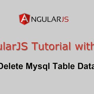 AngularJS Tutorial with PHP – Delete Mysql Table Data