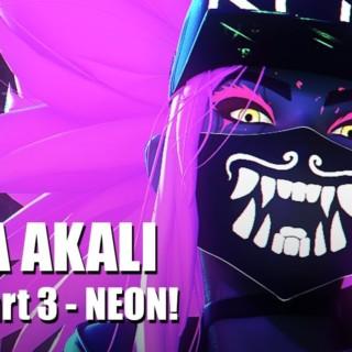 K/DA Akali NEON – Part 3 – Blender 3D Timelapse