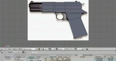 Blender tutorial gun