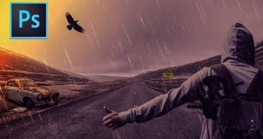 Photoshop Manipulation Tutorial : Dark Rainy Night