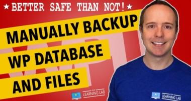 How To Manually Backup WordPress MySQL Database, Files and Folders | WP Learning Lab