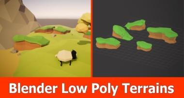 Blender Low Poly Terrain Modeling Tutorial