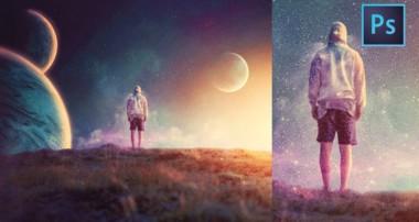 "[ Photoshop Manipulation ] ""BATAS CAKRAWALA"" – Simple Surreal Fantasy Editing Tutorial"