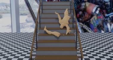 Ragdoll Falling Down Stairs – Blender3D