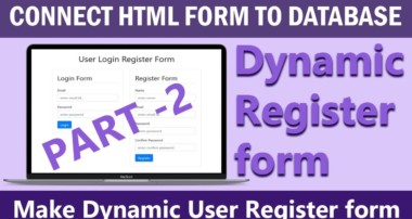 How to Connect User Register HTML form to MYSQL Database Using PHP