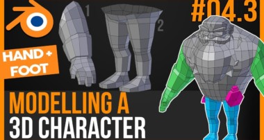 Modelling HANDS and FEET of a 3d character in Blender 2.79 – Become a game creator – Tutorial #04.03