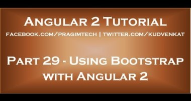 Using Bootstrap with Angular 2
