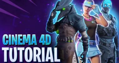 Fortnite 3D Design Tutorial Cinema4d & Blender
