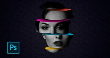 how to create sliced color head – inspired by Magdiel Lopez – Photoshop manipulation tutorials