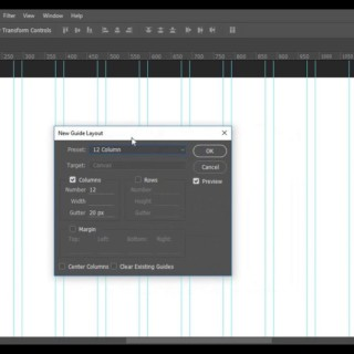 how to create bootstrap 12-Grid (960 Grid system) Using Photoshop CC guideline
