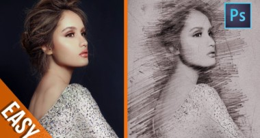 [ Photoshop Tutorials ] 4 Minute to create Pencil Sketch Effect – Photoshop trick