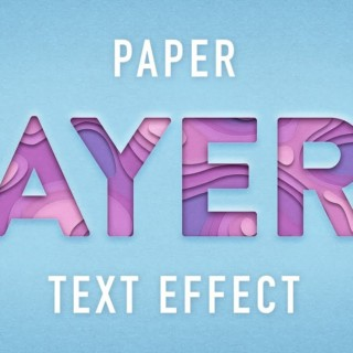 Photoshop Tutorials – Paper Layers Text Effect