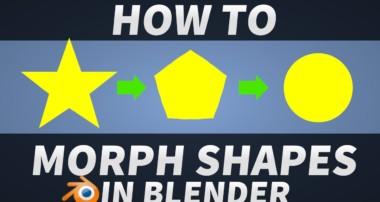 How to Morph shapes in Blender [Blender 3D Tutorial]
