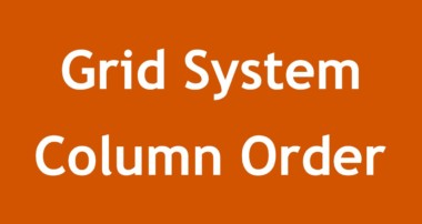 [ Twitter Bootstrap 3 In Arabic ] #09 – Grid System Column Ordering