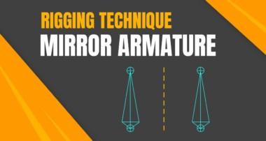 Easy Riggin in Blender 3D: Mirror Armature ( Technique )