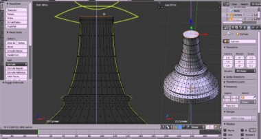 Blender Modelling Tutorial Making a Pawn Chess Piece – Extruding and Scaling a Cylinder