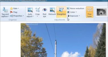 Windows Live Photo Gallery Photo editing tutorial
