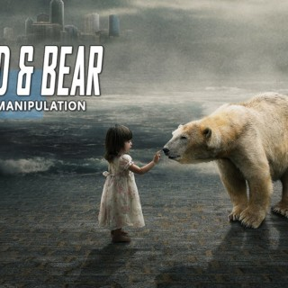 Child & White Bear – Photoshop Manipulation Tutorial Compositing