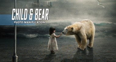 Child & White Bear – Photoshop Manipulation Tutorial Compositing