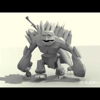 3D GOLEM – BLENDER + FLASH COMPOSITE