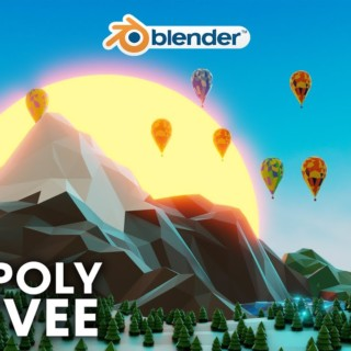 Blender – Easy Low Poly Environment in Eevee (Blender 2.8)