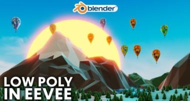 Blender – Easy Low Poly Environment in Eevee (Blender 2.8)