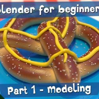 Making a 3D Pretzel – Part 1 – Blender for Beginners