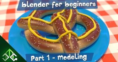 Making a 3D Pretzel – Part 1 – Blender for Beginners