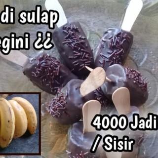 Usaha kecil sukses | modal 4000 jadi 15000 per sisirnya, pisang coklat modal sedikit untung besar