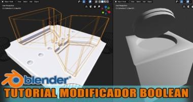 tutorial blender modificador boolean