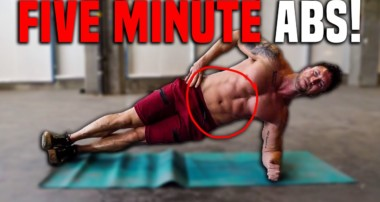 5 Minute Lower Abs + Obliques Workout For SHREDDED Abs (ZERO EQUIPMENT!)