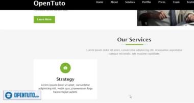 #10 – Créer un site web responsive en HTML, CSS, Bootstrap et jQuery : Services