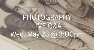 Trailer: LIVE Q&A with Photography Curator Sarah Meister (May 23) – Send us your questions!