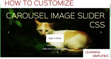 How to make Custom Carousel Image in CSS-Tutorial in Bootstrap