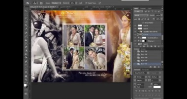 How To Design Wedding Album Page 1 using Adobe Photoshop CS6 -HD – Skyart Multimedia Soluti