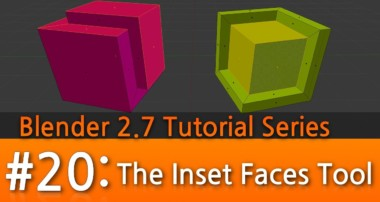 Blender 2.7 Tutorial #20 : The Inset Faces Tool