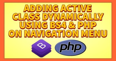 Add Active Class Dynamically In Naviagtion Menu Using Bootstrap 4 & PHP