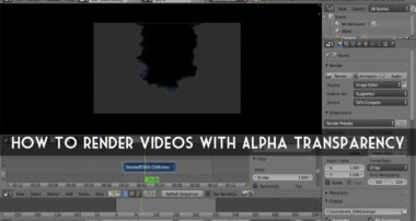 Blender Tutorial: How to Render Videos with Alpha Transparency (Quick Tip)