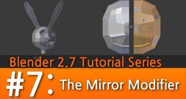 Blender 2.7 Tutorial #7 : The Mirror Modifier