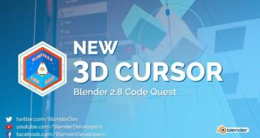 New 3D Cursor – Blender 2.8 Code Quest