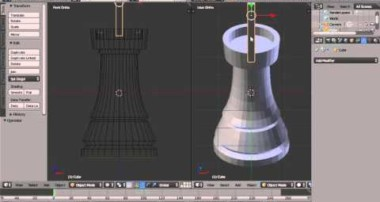 Blender Modelling Tutorial Making A Rook (Castle) Chess Piece Using the Boolean Modifier