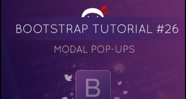 Bootstrap Tutorial #26 – Modal Pop-ups