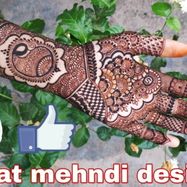 Beautiful mehndi design step-by-step photography tutorial